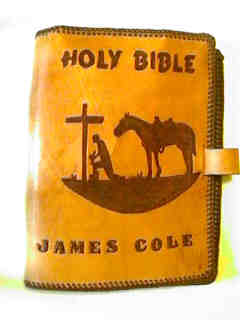 Custom Personalized Bible cover.