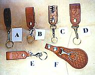 Belt Key Holder with quick release, chap snap, spring snap, or harness snap