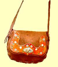 New Mood style purse with tooled patch